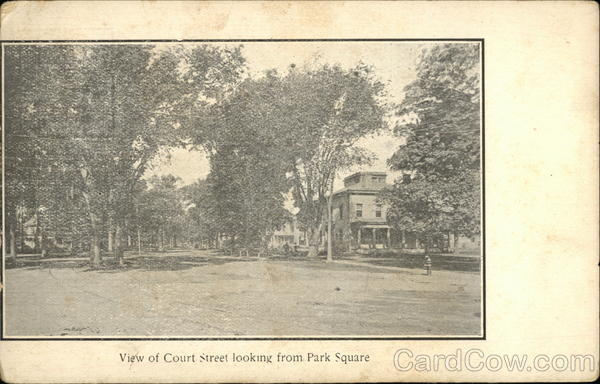 View of Court Street Looking From Park Square Westfield Massachusetts