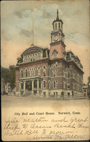 City Hall and Court House Norwich Connecticut
