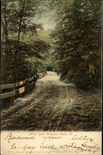 Scenic Drive Near Bellows Falls Vermont