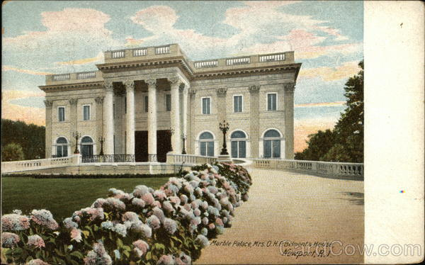 Marble Palace, Mrs. O.H.P. Belmont's House Newport Rhode Island