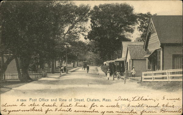 Post Office and View of Street Chatham Massachusetts