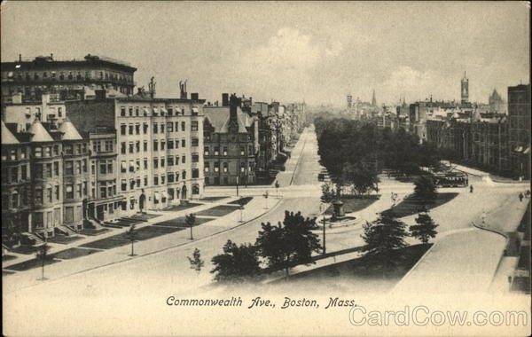 Commonwealth Ave Boston Massachusetts