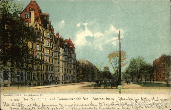 The Vendome and Commonwealth Ave Boston Massachusetts