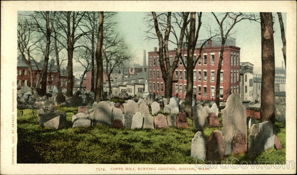 Copps Hill Burying Ground Boston Massachusetts