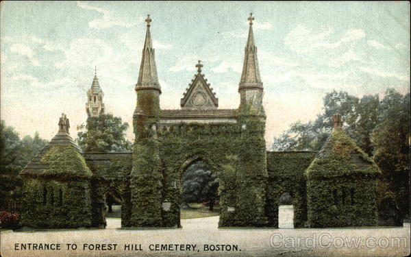 Entrance to Forest Hill Cemetery Boston Massachusetts