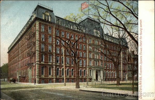 Franklin Square House, Hotel for Young Women Boston Massachusetts