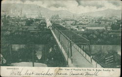 View of Reading from Penn St. Bridge Postcard