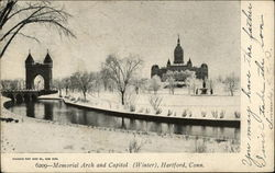 Memorial Arch and Capitol (Winter)