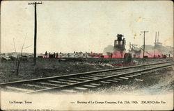 Burning of La Grange Compress, February 27th, 1906
