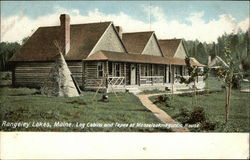 Log Cabin and Tepee at Mooselookmeguntic House