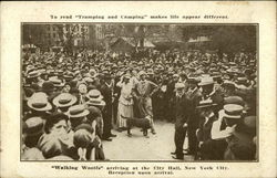Walking Woolfs Arriving at the City Hall, New York City, Reception Upon Arrival