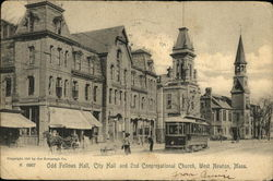 Odd Fellows Hall, City Hall and 2nd Congregational Church