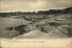 The Bathing Place and view of Pigeon Cove