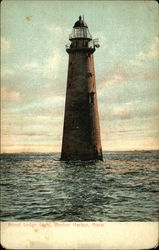 Minot Ledge Light, Boston Harbor Postcard