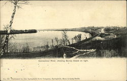 Connecticut River, Showing Barney Estate on Right