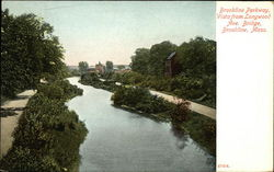 Brookline Parkway, Vista from Longwood Ave. Bridge
