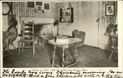 Room in Which Old Put was Born Postcard