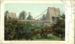 Old Chain Bridge, First suspension bridge in America