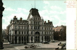 US Post Office and Sub-Treasury Postcard