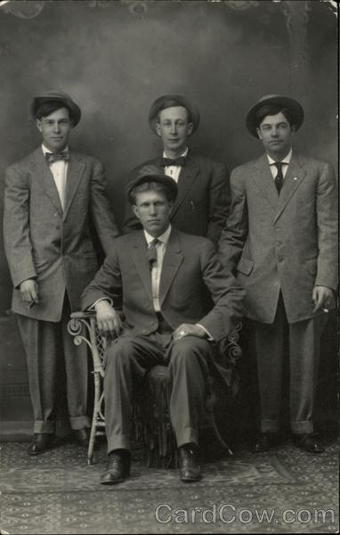 Portrait of Four Men Family Portaits
