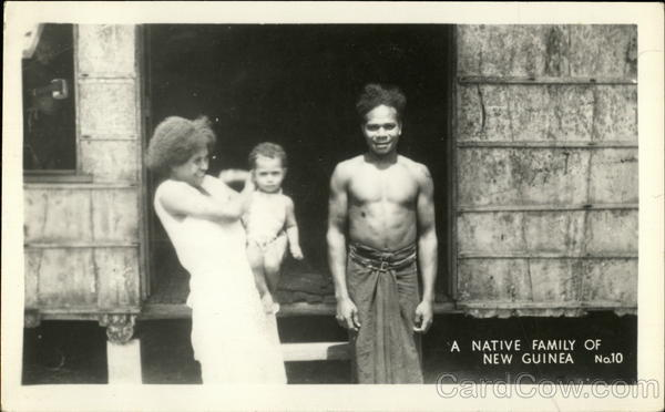 A Native Family of New Guinea South Pacific