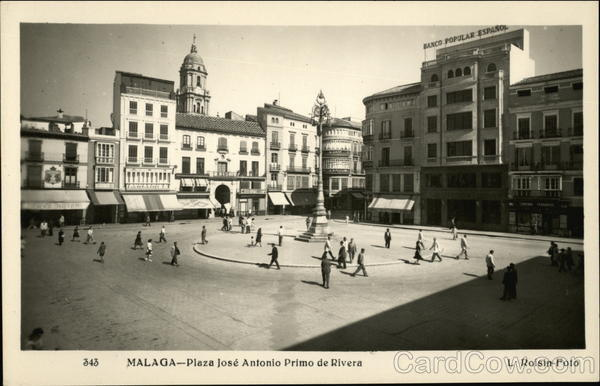 Plaza Jose Antonio Primo de Rivera Malaga Spain Spain, Portugal