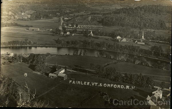 Aerial view of Fairlee, VT & Orford New Hampshire