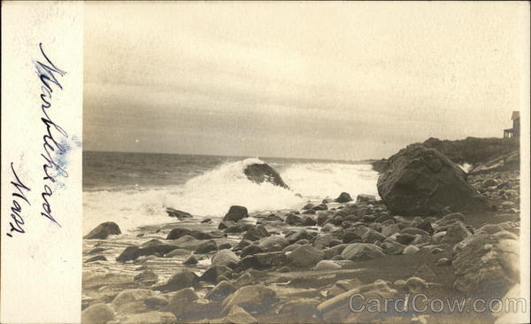 Waves Coming Onto Rocky Beach Marblehead Massachusetts
