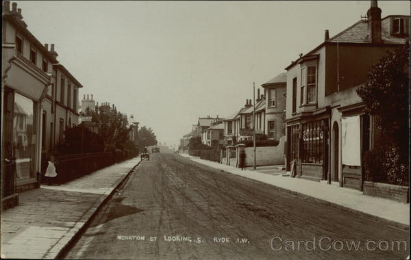 Monkton Street Looking South Ryde England