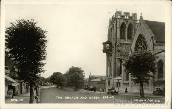 The Church and Green Epping England