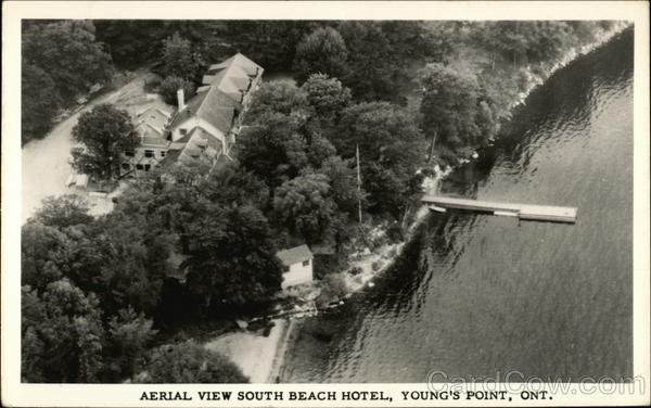 Aerial View South Beach Hotel Young's Point ON Canada