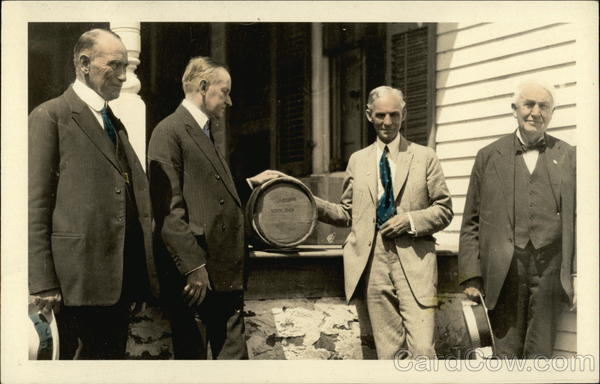 John Calvin Coolidge, Sr., President Calvin Coolidge, Henry Ford, and Thomas Edison Plymouth Vermont