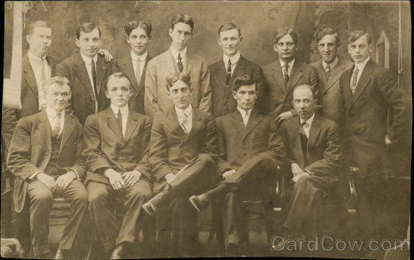 Portrait of Group of Men Binghamton New York