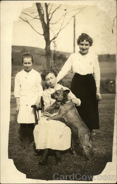 Portrait of Three Women and Dog Family Portaits