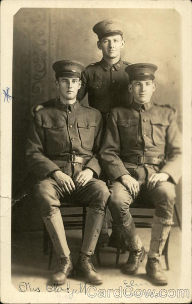 Three Servicemen in Binghamton, New York Military