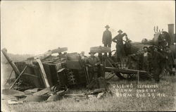 Raising Separator blown over by storm Aug. 27, 1912