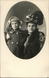 Two women in winter clothing