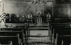 Interior of Union Church Showing Flag in Coolidge Pew
