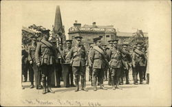 Men in Uniform Standing at Attention