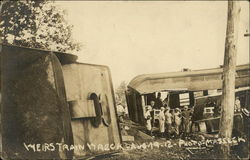 Boston & Maine Train Wreck, Aug. 19, 1912 Postcard