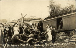 Boston & Maine Train Wreck - Aug. 19-12 Postcard
