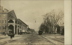 Main Street, North of Tremont Street Postcard