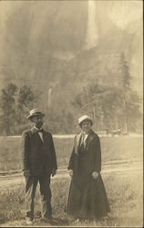 Couple's Portrait in Yosemite Valley and Falls