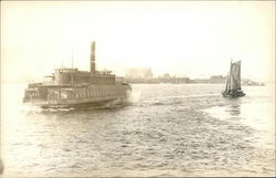 Ferry Syracuse - West Shore Railroad Postcard