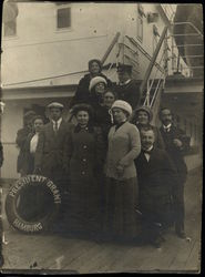 Group of People on board President Grant, Hamburg-Amerika