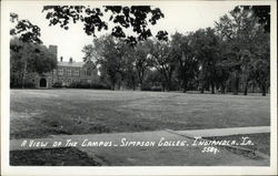 A view of the campus, Simpson College
