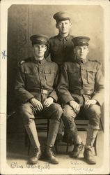 Three Servicemen in Binghamton, New York