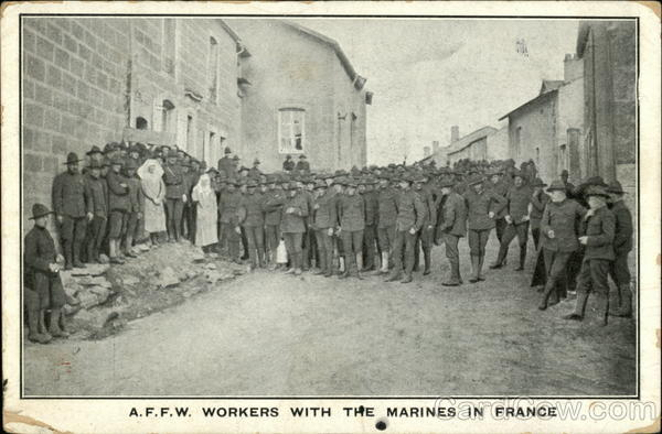 A.F.F.W. workers with the Marines in France
