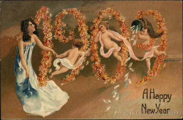 1909 A Happy New Year Children
