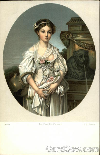 Portrait of Woman at Fountain Women